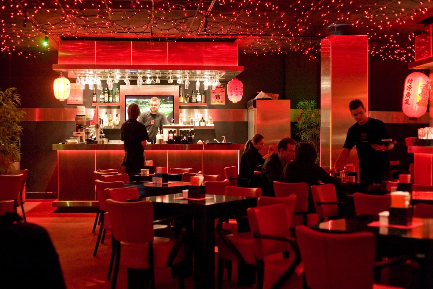 Wnętrze restauracji Wook