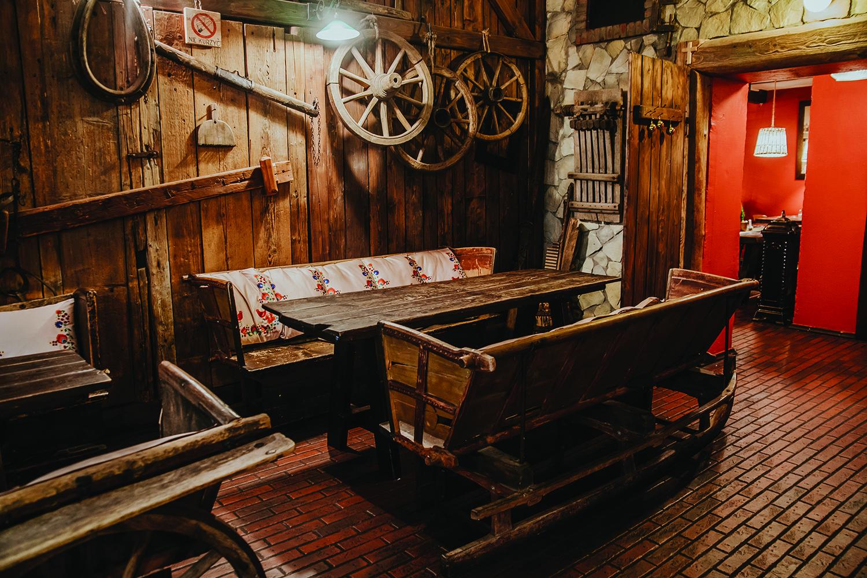 Wnętrze restauracji franczyzowej Chłopskie Jadło